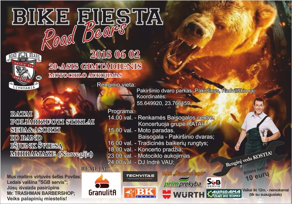 ROAD BEARS BIKE FIESTA 20018